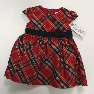 Baby Infant Red Plaid Party Dress 3 Months